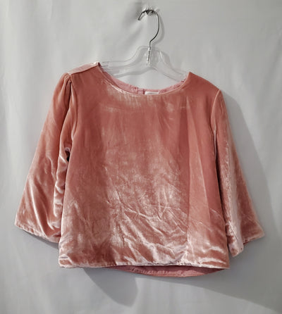 Gymbo Velour Top, Pink, size 10/12