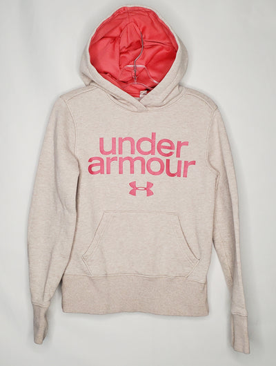 Under Armour Hoodie, Tan, size 6/7