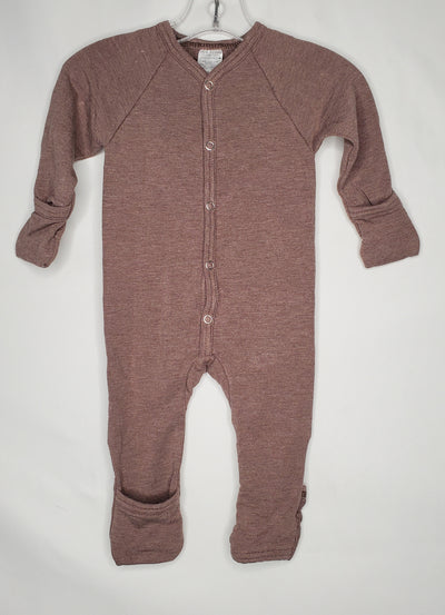 Itty Bitty Baby Playsuit, Brown, size 1-3m