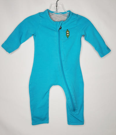 Peekaboo Beans Playsuit, Teal, size 3-6m