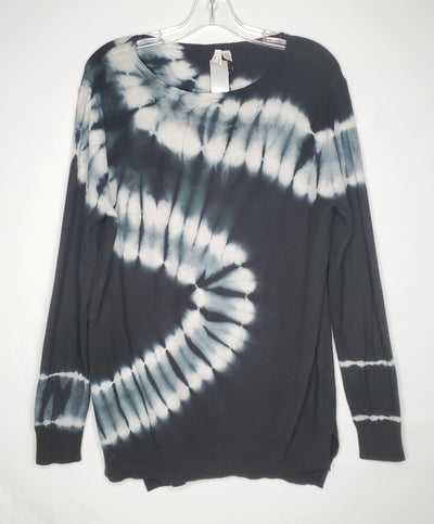 Love Finn Sweater Tie Dye, Blk/Grey, size Small
