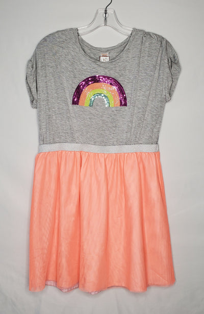 Gymbo Dress Rainbow, Gry/org, size 14