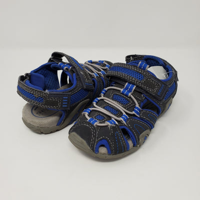 Geox Trek Sandals, Blu/grey, size 10