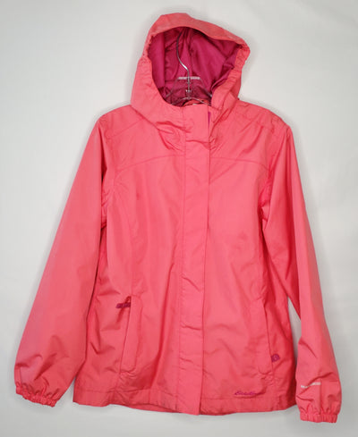 Eddie Bauer Rain Coat, Orange/Pink, size 10-12