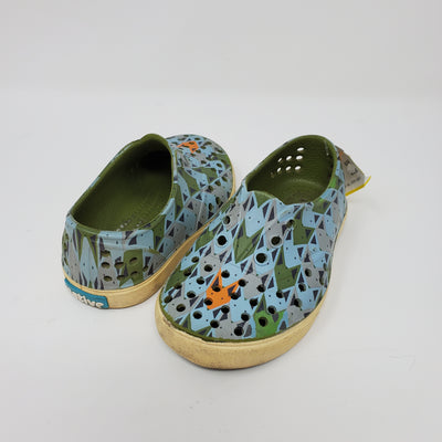 Native Shoes, Blu/grn, size 7