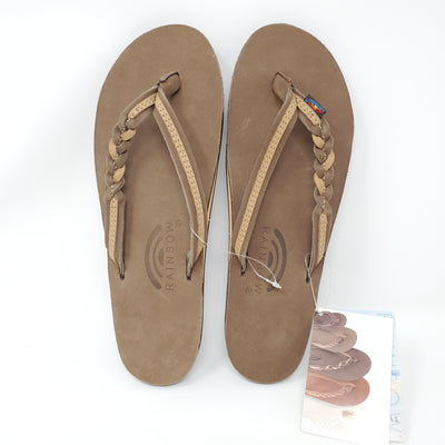 NEW Rainbow Sandals, Brown, size 7.5-8.5