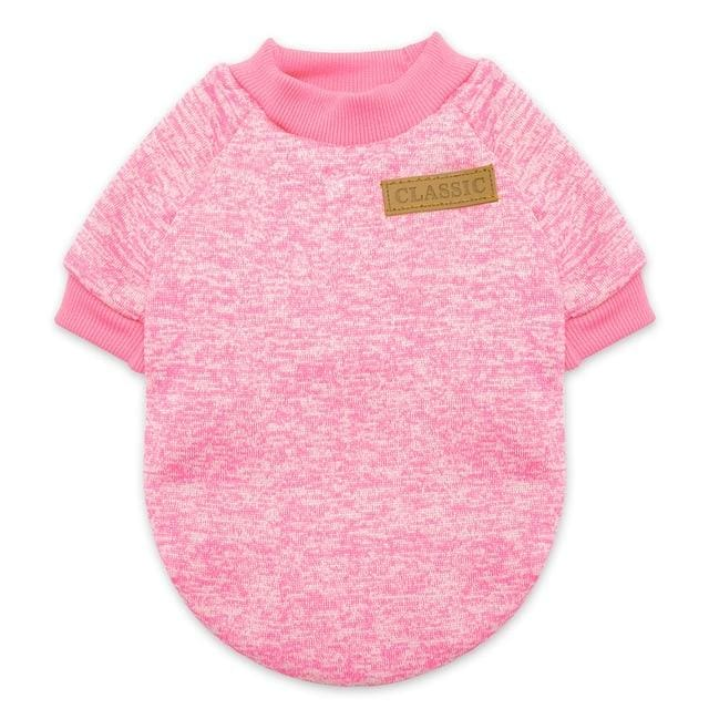 CLASSIC Warm Cat/Dog jumper - Pink / L