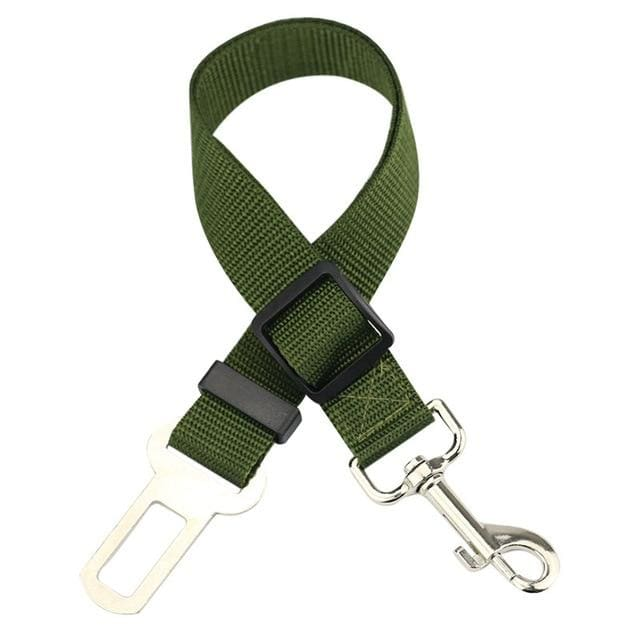Dog Or Cat Car Seat Belt - SALE - FREE + SHIPPING - Army Green / 43-72 cm