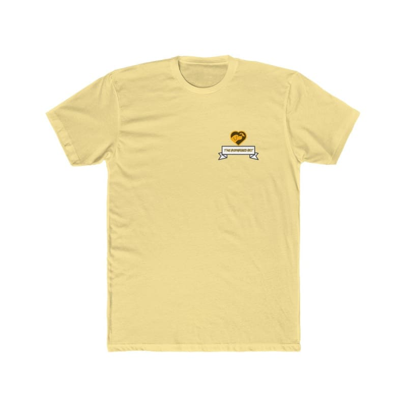 Mens Cotton Crew Tee - Solid Banana Cream / L - T-Shirt