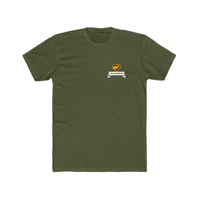 Mens Cotton Crew Tee - Solid Military Green / XS - T-Shirt