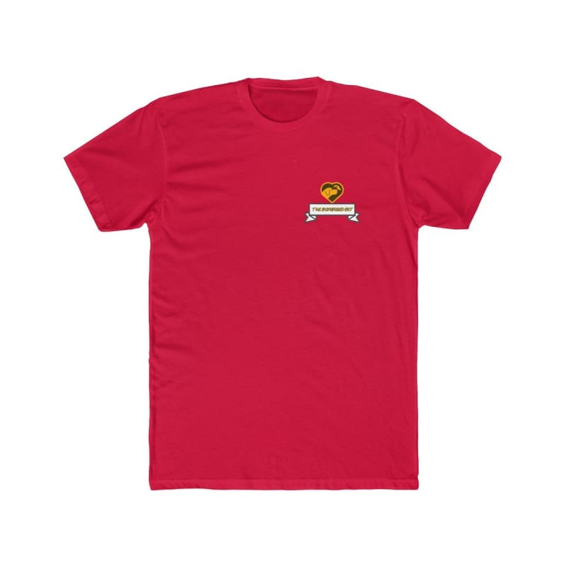 Mens Cotton Crew Tee - Solid Red / XS - T-Shirt