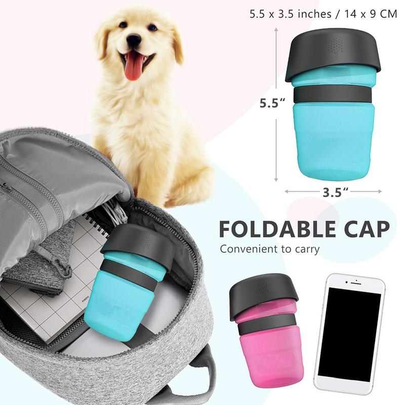 Portable Pet Squeeze Drink Bottle