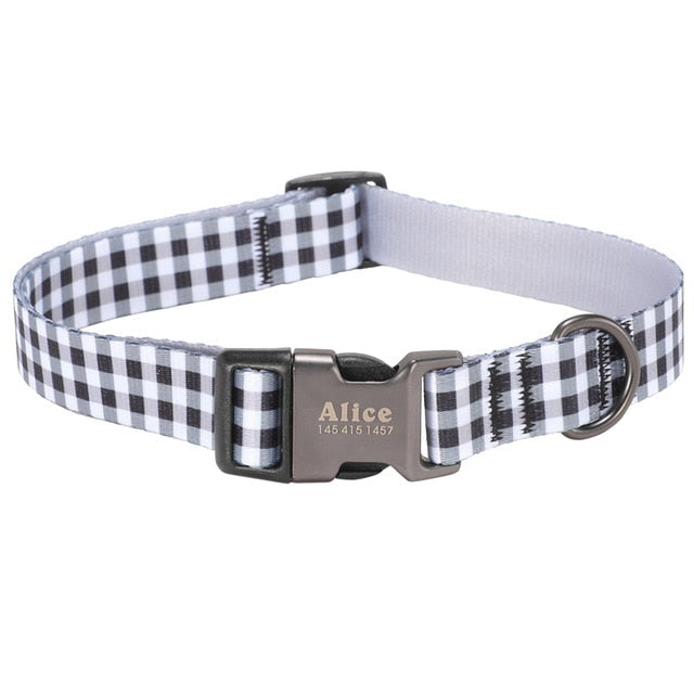 COZY JOY Personalised Pattern Dog Collar