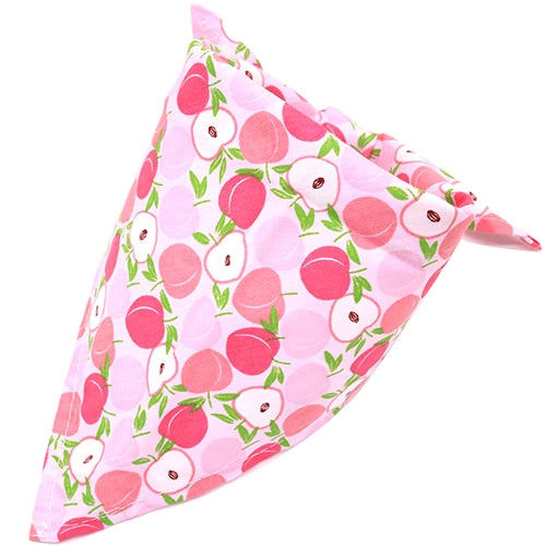 Medium to Large Dog Custom Fruit Print Bandana