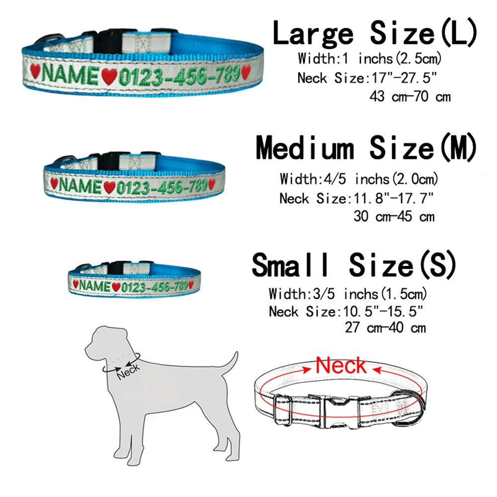 Custom Embroidered Pet Collar