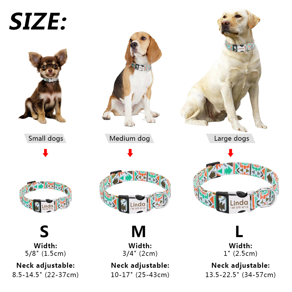Personalised Pattern Dog Or Cat Nylon Collar
