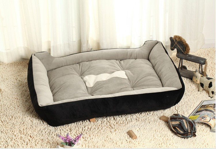 PAWSTRIP Bone Print Cotton/Fleece Dog Or Cat Bed - SALE