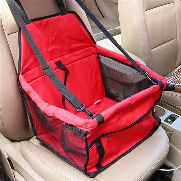 Single Dog/Cat Car Seat - Red / 40x30x25cm