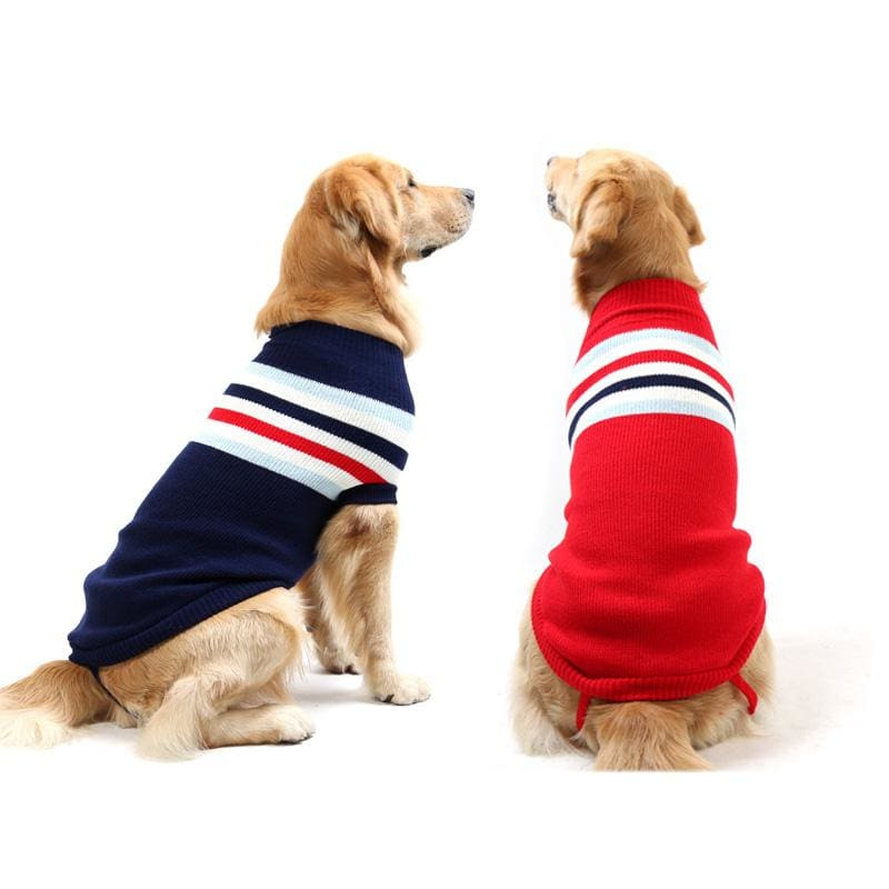 Striped Comfortable Cotton Sweater for all sized dogs