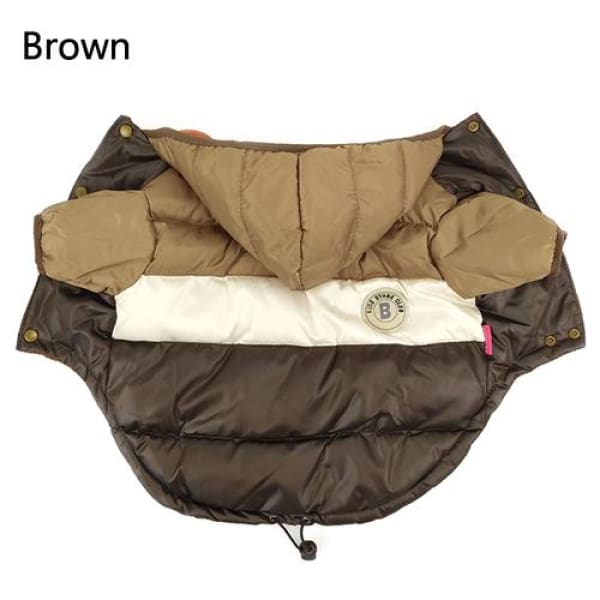 Stylish Puffy Jacket - Brown / S - Jackets