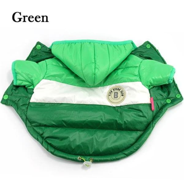 Stylish Puffy Jacket - Green / L - Jackets