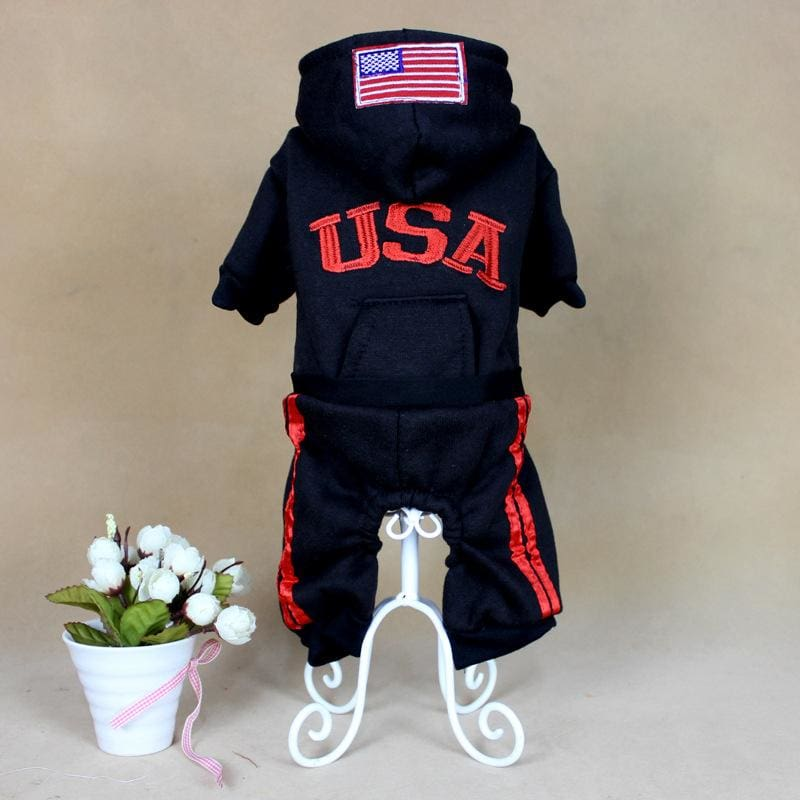 Team USA Jumpsuit - black / L - Dog Clothes