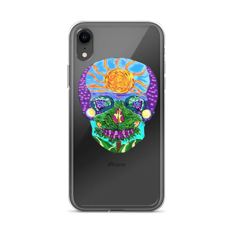 Tropical Sunset Sugar Skull Phone Case (iPhone)