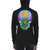 Tropical Sunset Sugar Skull Hoodie (Zip Unisex)