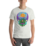 Tropical Sunset Sugar Skull T-shirt (Short-Sleeve Unisex)