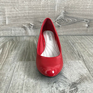 NIB Easy Street Passion Faux Patent Leather Pumps, Bright Red