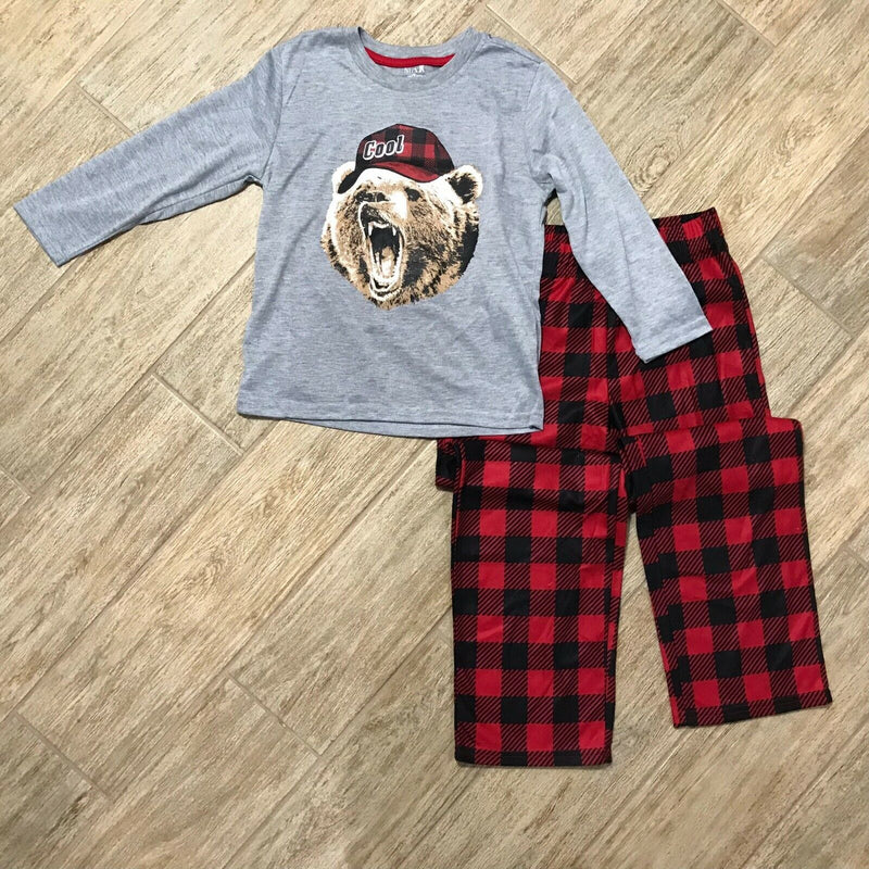 NEW Max & Olivia Big Boys Bear with Hat Pajama Top and Pant Set, Sz. S