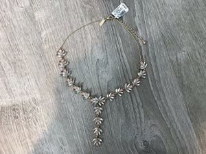 NWT INC International Concepts Gold Tone Multi-Stone Y Lariat Necklace