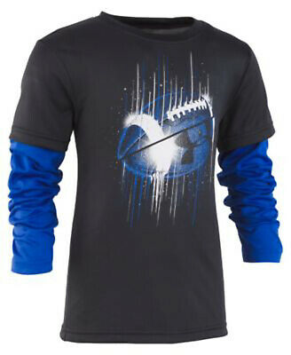 NEW Under Armour Little Boys Football-Print Layered Look T-Shirt