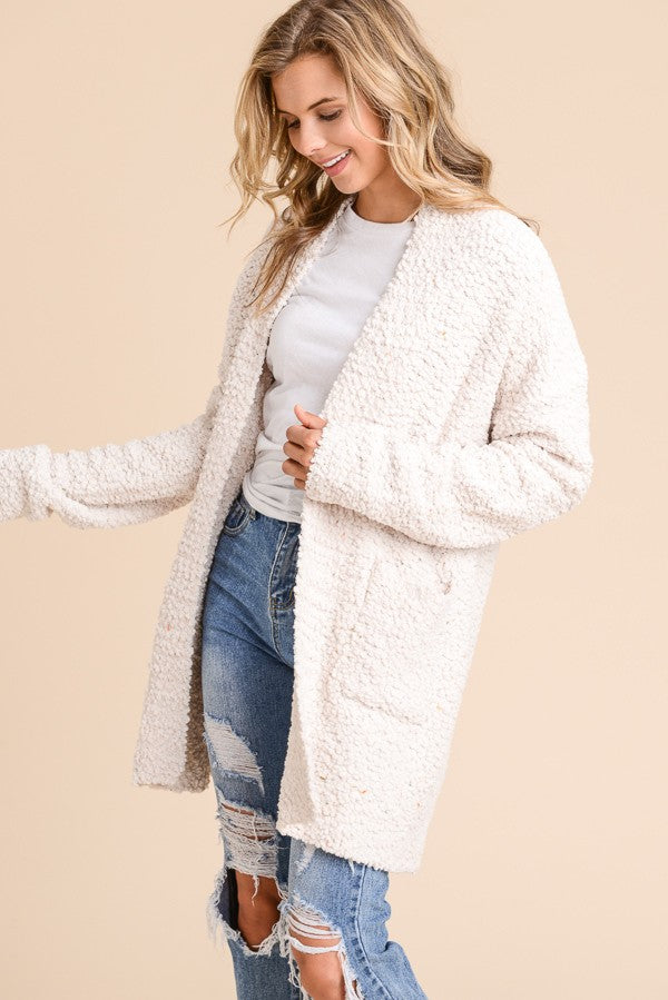 Delilah Cozy Open Cardigan with Pocket
