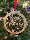 Personalized Mr. & Mrs. Our First Christmas 2020 Laser Cut Wooden ornament