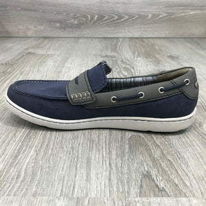 NIB ROCKPORT Men's Gryffen Penny Slip-On Loafer, Navy Blue Sz. 11