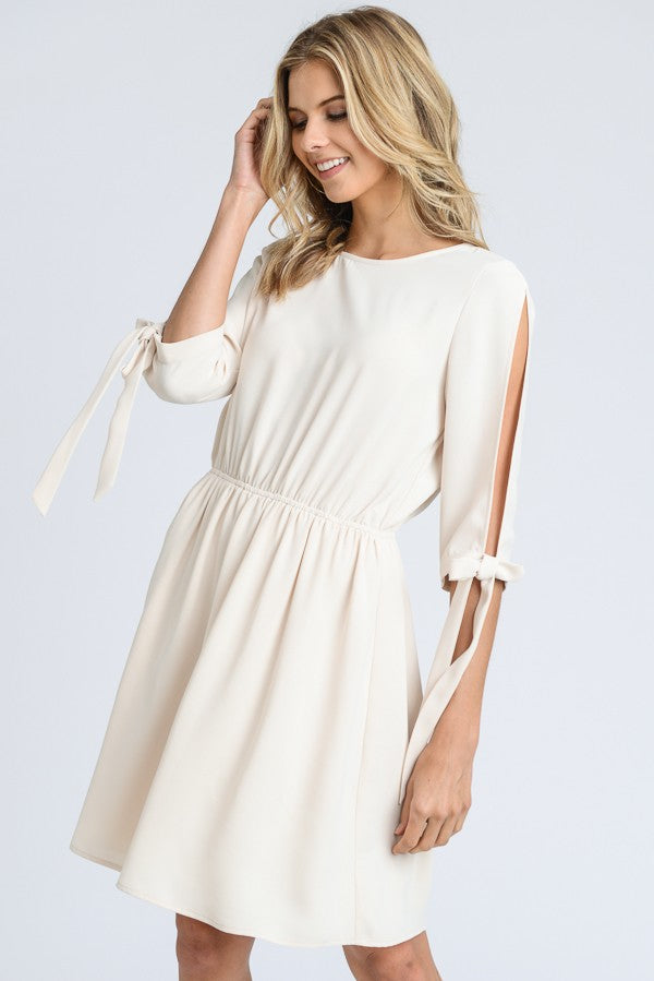 Ariel Open Sleeves Dress with Elastic Waist