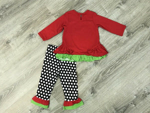 NEW Rare Editions Baby Girls 2 Piece Reindeer Top & Leggings Set, Multiple Sizes