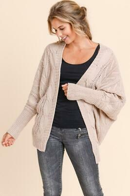 Molly Loose Fit with Sleeve Detail Mauve Cardigan