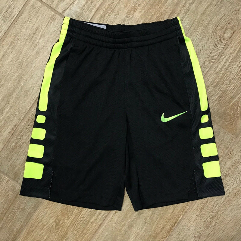 NEW Nike Boys Dri-FIT Basketball Shorts, Black/Yellow Size M