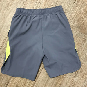NEW Nike Boys Dri-FIT Training Shorts, Gray/Yellow Size M