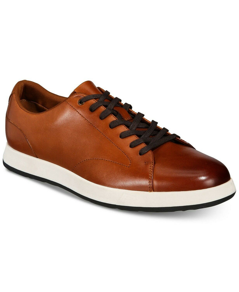 NIB ALFANI Men's Benson Casual Lace-Up Sneaker, Tan Sz. 12