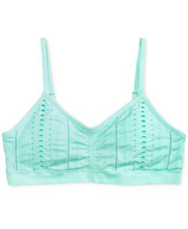 NEW Maidenform Girls Adjustable Padded Bra, Mist Mint Sz. S, M