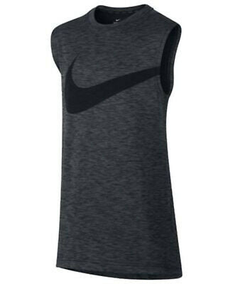 NEW Nike Big Boys Graphic-Print Dry Fit T-Shirt, Gray