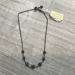 NWD MICHAEL KORS Black Ion-Plated Starburst Pavé Choker Necklace