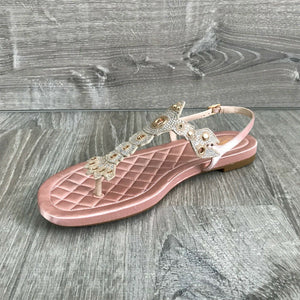 NIB $280 Cole Haan Pinch Lobster Sandals, Coral Multiple Sizes
