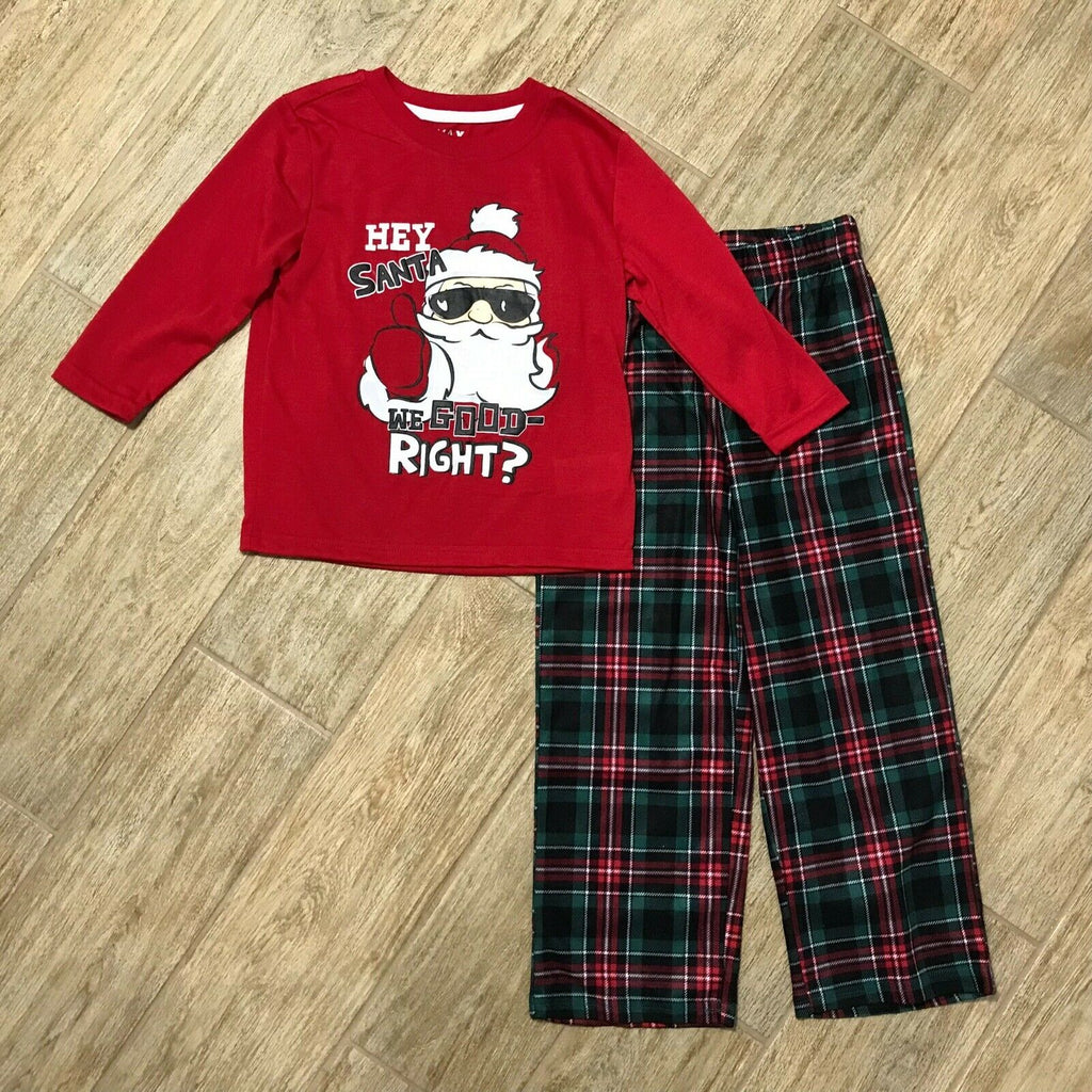 NEW Max & Olivia Big Boys Hey Santa Pajama Top and Pant Set, Sz XS, S, L, XL