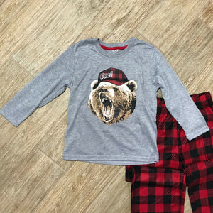 NEW Max & Olivia Big Boys Bear with Hat Pajama Top and Pant Set, Sz. XS, S, XL