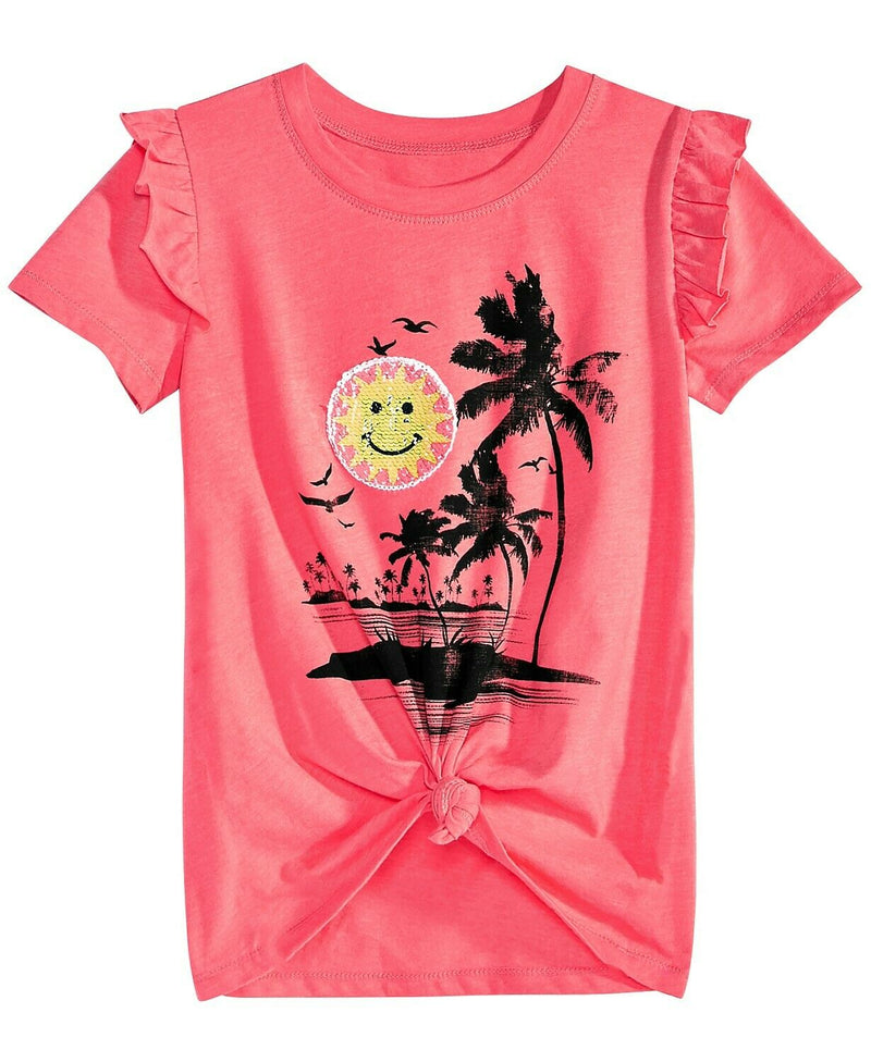 NWT Kandy Kiss Big Girls Reversible Sequin T-Shirt, Sz. XL