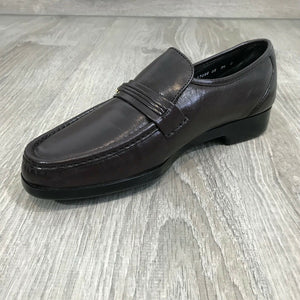 NIB $120 FLORSHEIM Men's Riva Moc Toe Leather Loafer, Burgundy Sz. 8.5